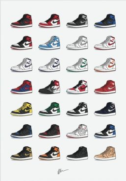 Air Jordan Collection Poster