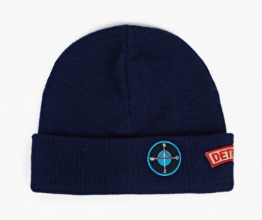 Raf Simons Blue Patch Beanie Hat