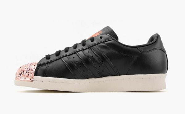 "Adidas Superstar 80s Metal Toe TF W ""core black/core black/copper metallic"" (S76535)"