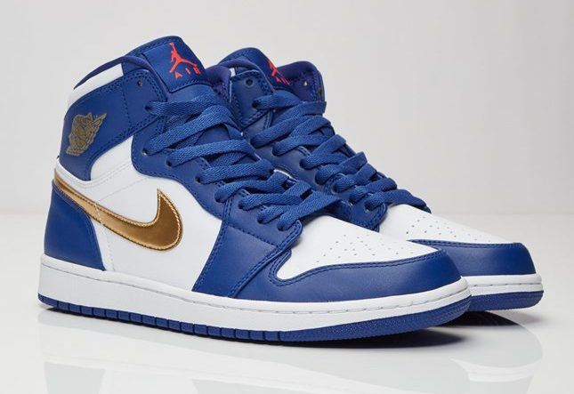 "Air Jordan 1 Retro High ""Deep Royal Blue/Metallic Gold Coin-White"" (332550-406)"