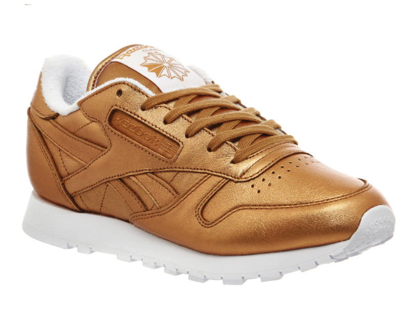 "Reebok Classic Leather Trainers ""Spirit Face Bronze Metallic"" (1467793790)"