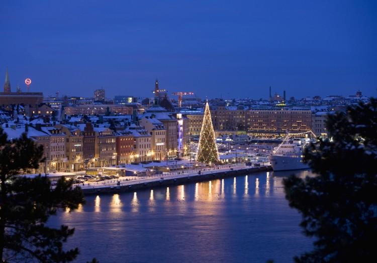 Sicht über Skeppsbronn, Stockholm.