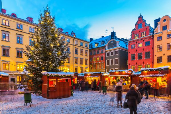 Skansen Weihnachtsmarkt in Stockholm