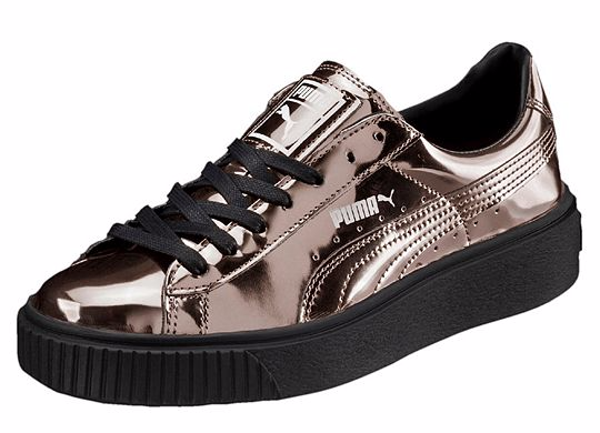 PUMA Basket Platform Metallic Frauen in Puma Black