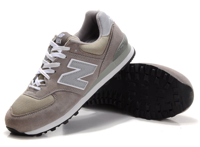 New Balance M574GS in Grau/Weiß.