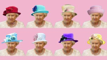 queen with hats pink
